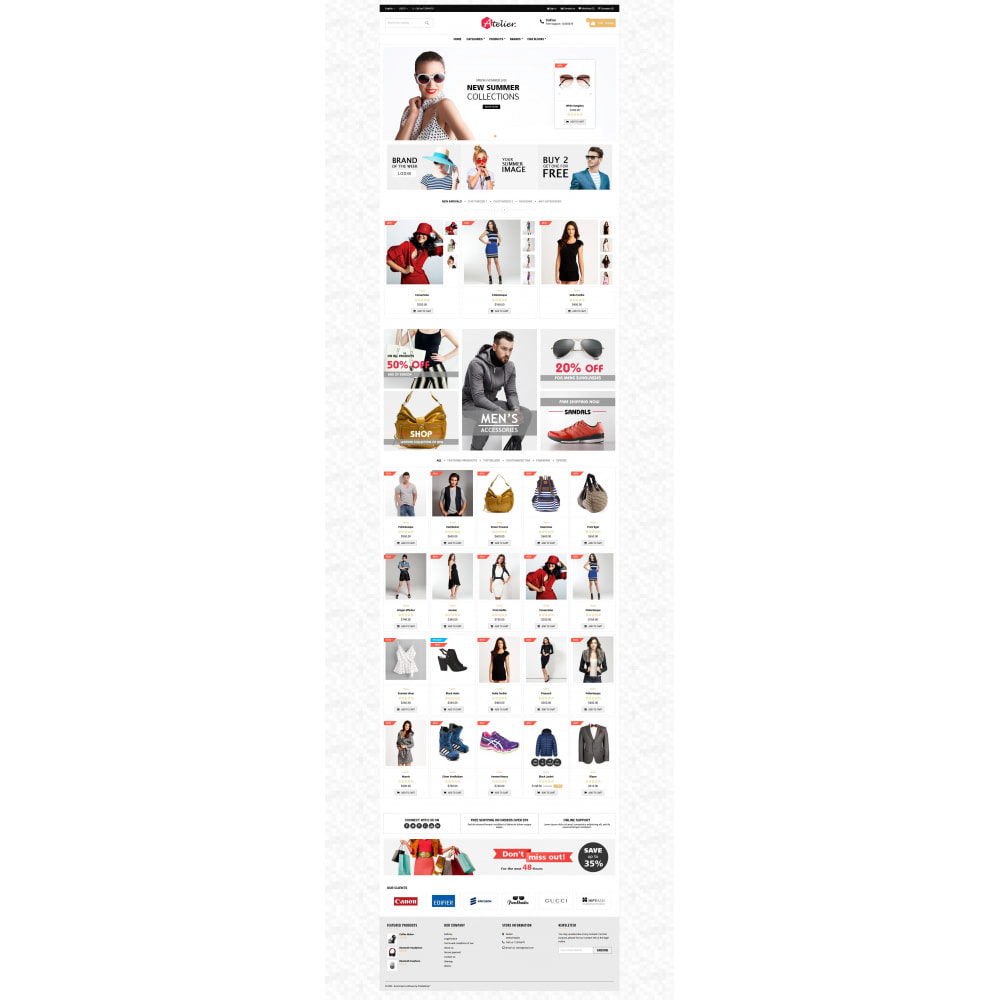 theme - Moda & Calçados - Atelier Fashion Multipurpose HTML5 - 7