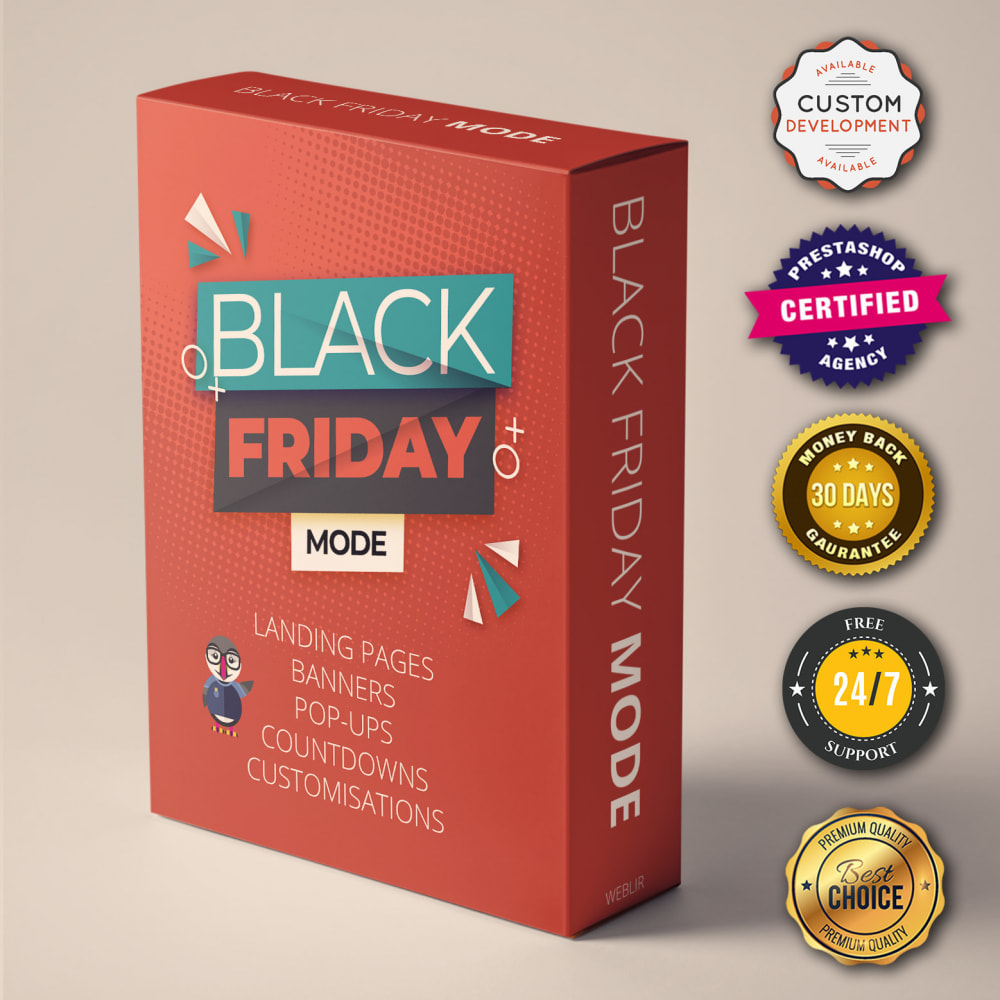 module - Promotions & Gifts - BLACK FRIDAY SALES MODE -UNLIMITED LANDING PAGE Builder - 1