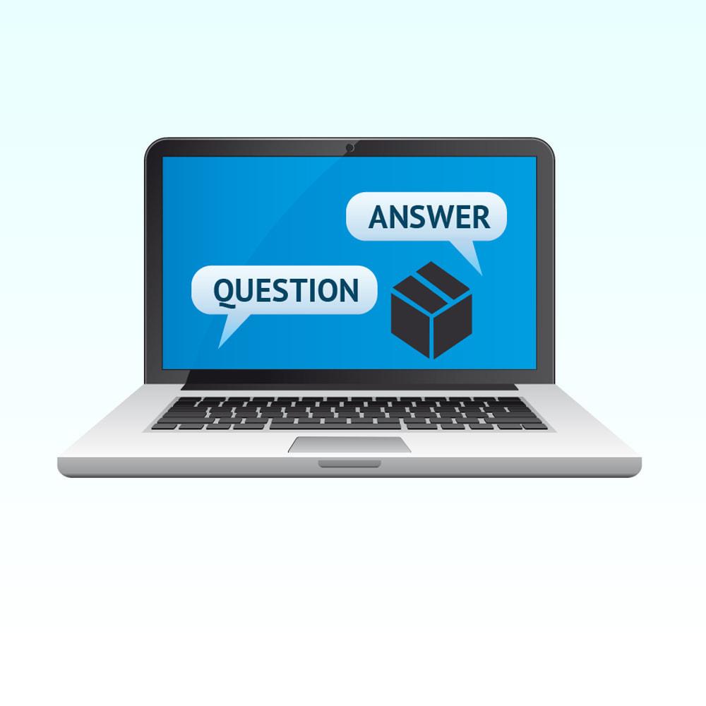 module - FAQ (questions fréquentes) - Réponse à la question dans le produit - 1