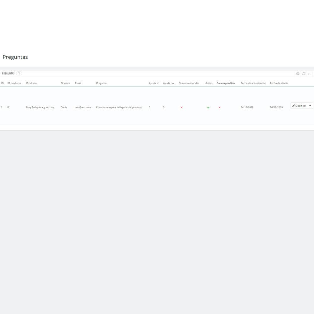 module - Preguntas Frecuentes - Pregunta respuesta en producto - 6