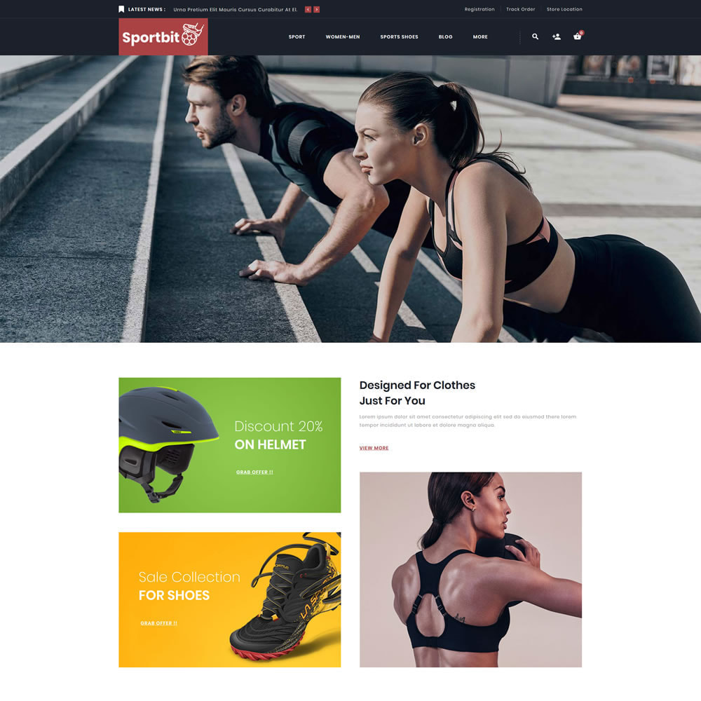 theme - Sports, Activities & Travel - Sportbit - Fitness Shop - 1