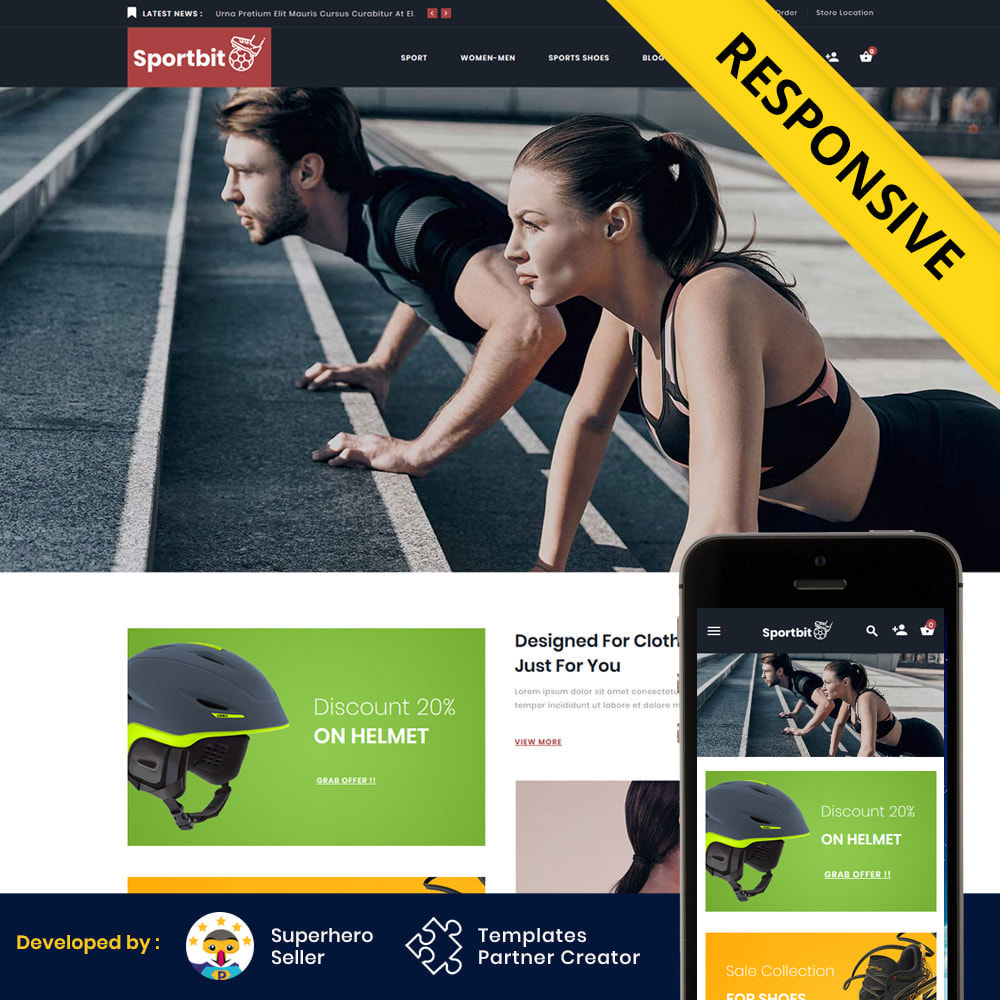 theme - Sports, Activities & Travel - Sportbit - Fitness Shop - 2