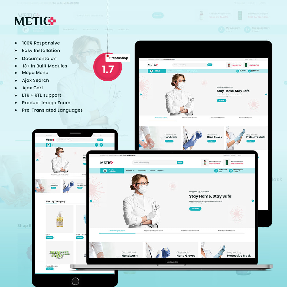 theme - Health & Beauty - Metic - Medical Supplies Store - 1