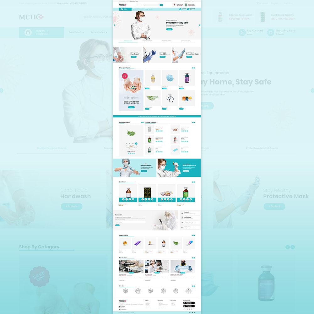 theme - Health & Beauty - Metic - Medical Supplies Store - 2