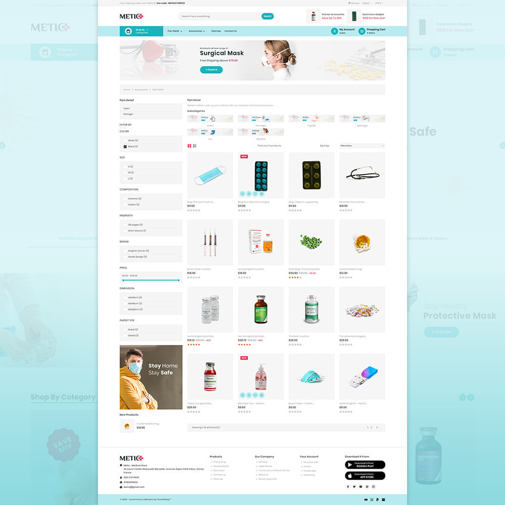 theme - Health & Beauty - Metic - Medical Supplies Store - 3