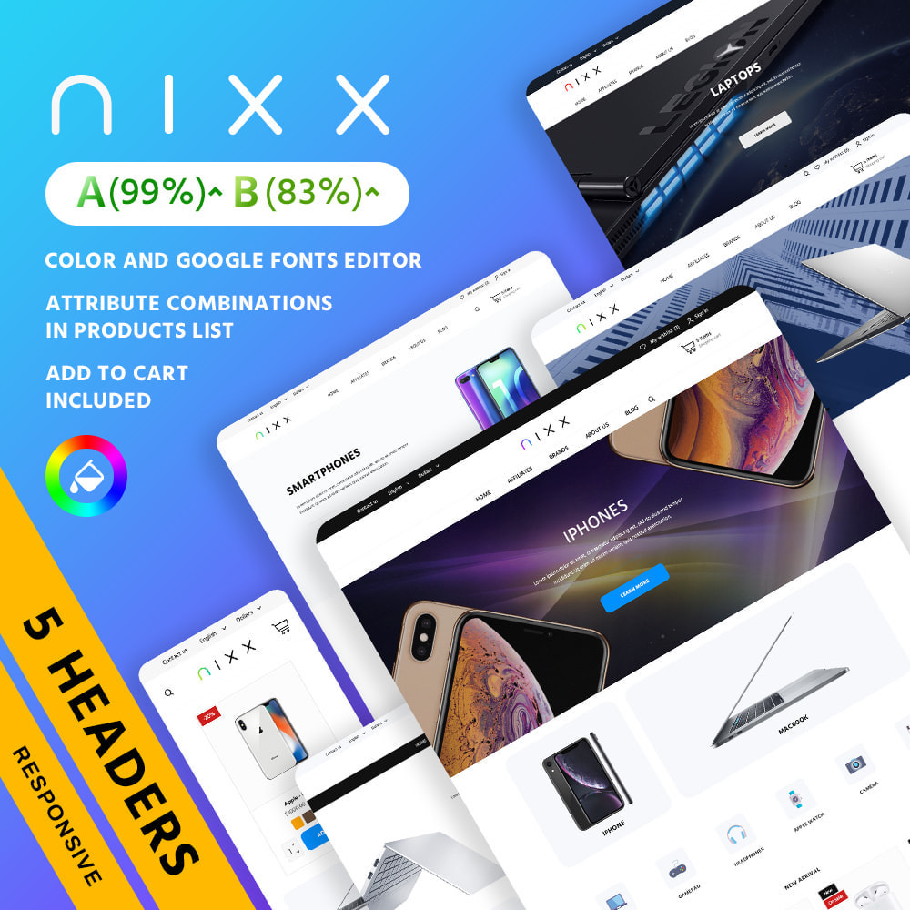 theme - Электроника и компьютеры - Nixx - High-tech Shop - 2