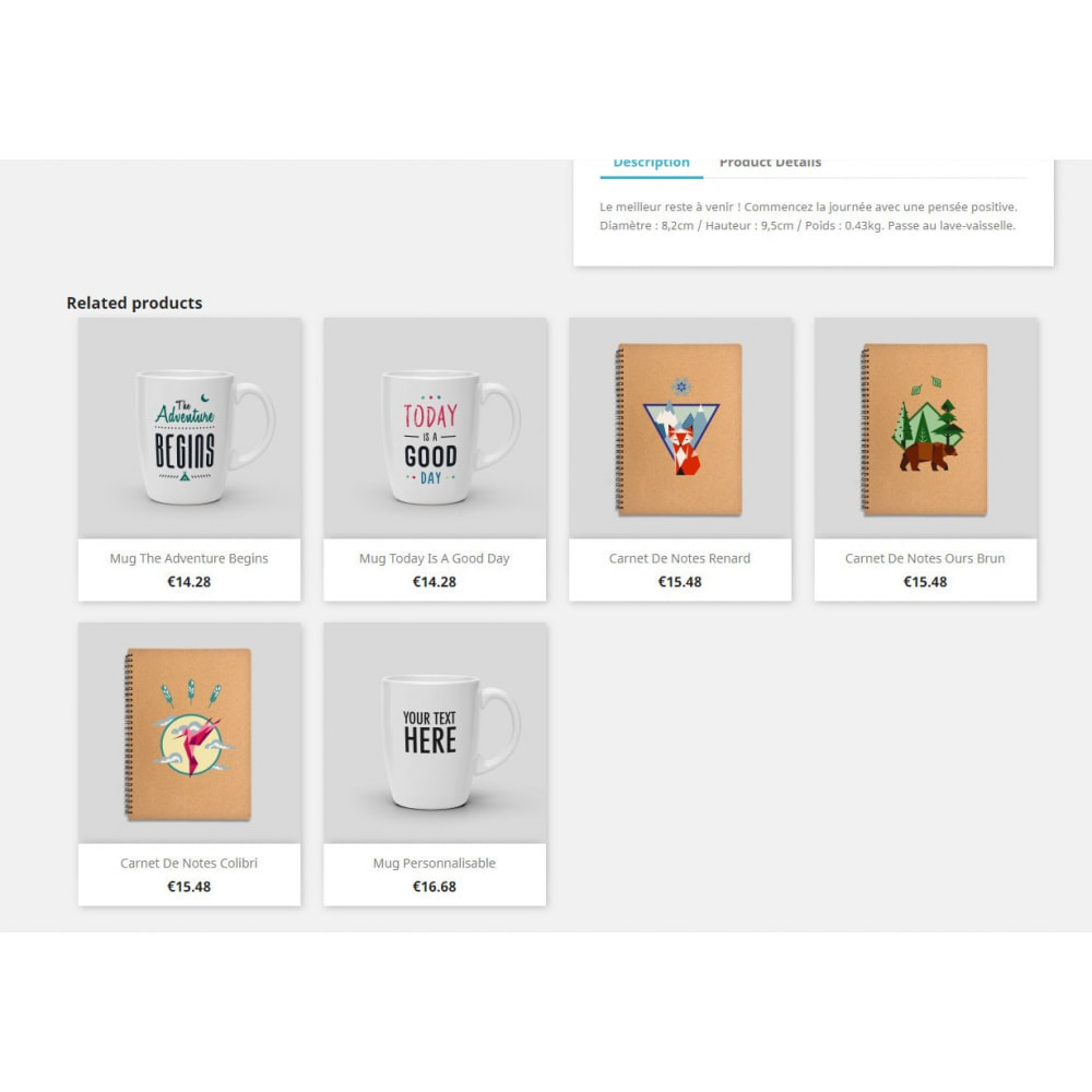 module - Ventas cruzadas y Packs de productos - Related Products by Product's Tags - 2