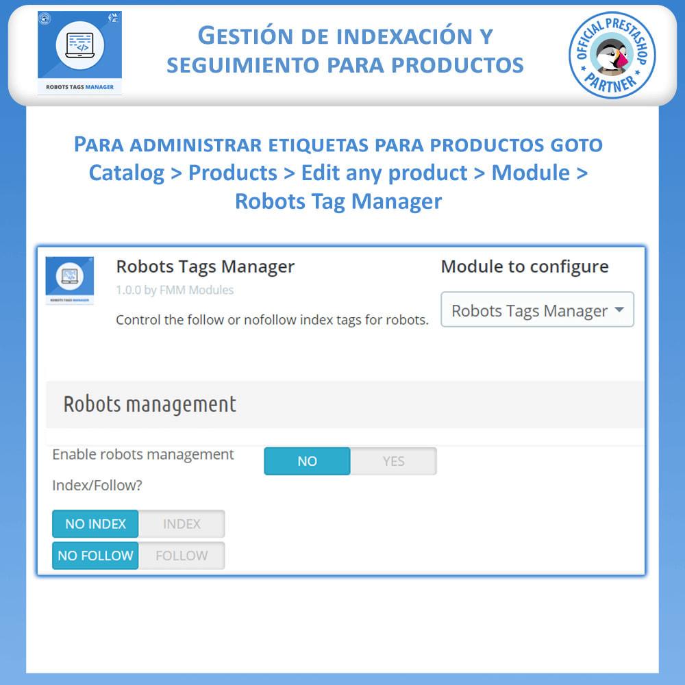 module - SEO (Posicionamiento en buscadores) - Meta Robot Tags - NoFollow NoIndex Manager - 5
