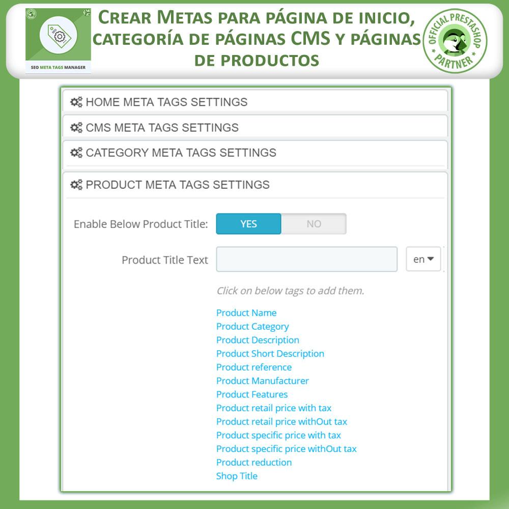 module - SEO (Posicionamiento en buscadores) - Meta Tag Manager - 3