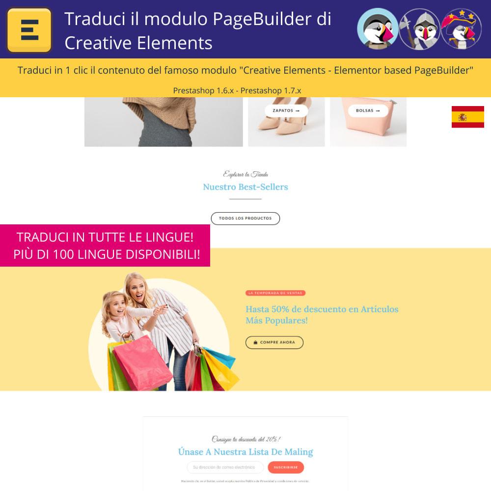 module - Lingue & Traduzioni - Tradurre il Elementi Creativi PageBuilder - 4