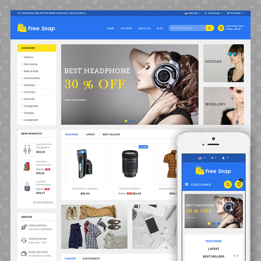theme - Fashion & Shoes - Free Snap - Multipurpose Store - 1