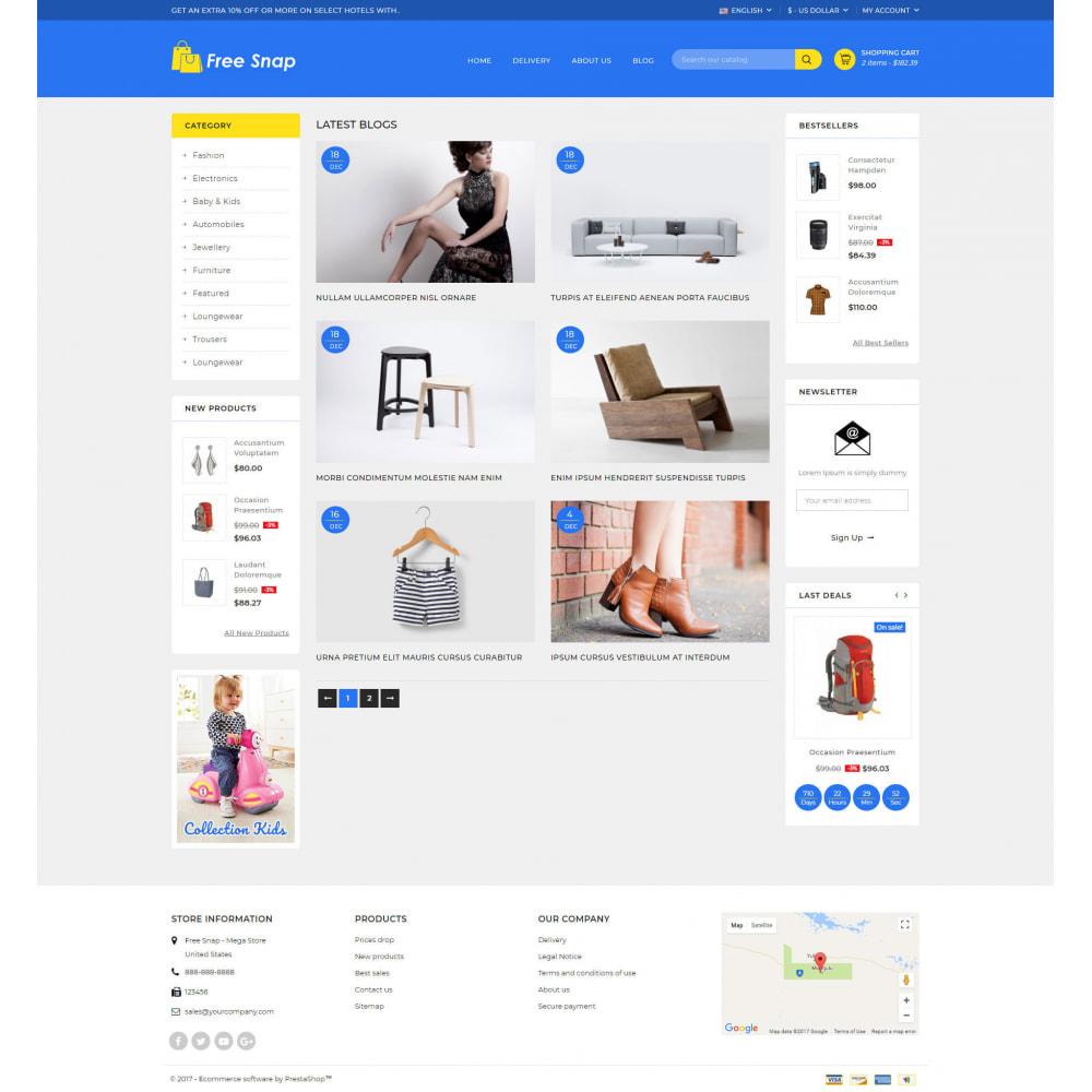theme - Fashion & Shoes - Free Snap - Multipurpose Store - 9