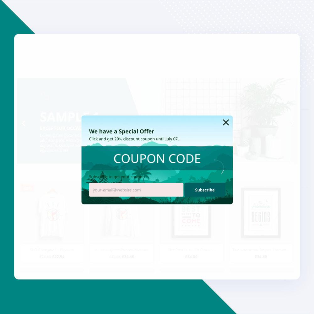 module - Newsletter & SMS - Newsletter Popup: MailChimp, HubSpot, SendinBlue + API - 15