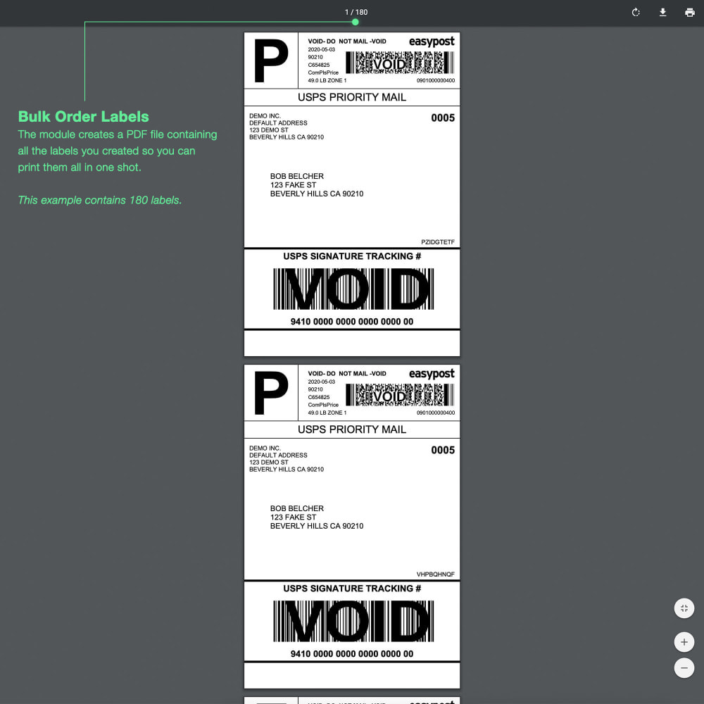 module - Frais de port - USPS: Rates, Bulk Labels, Returns, Tracking, Estimator - 4