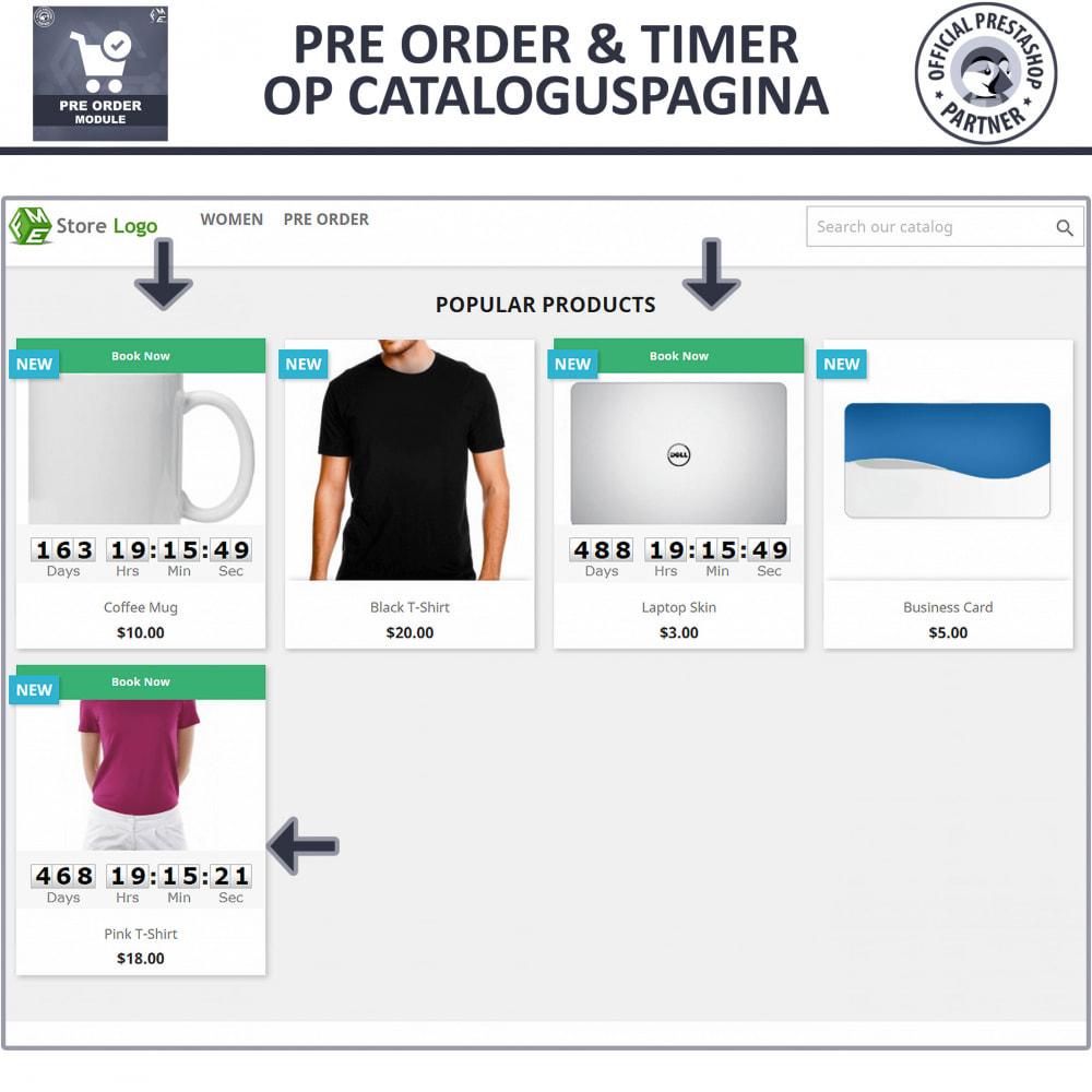 module - Registratie en Proces van bestellingen - Vooruit Bestellen en Wachtlijst Notificatie - 2