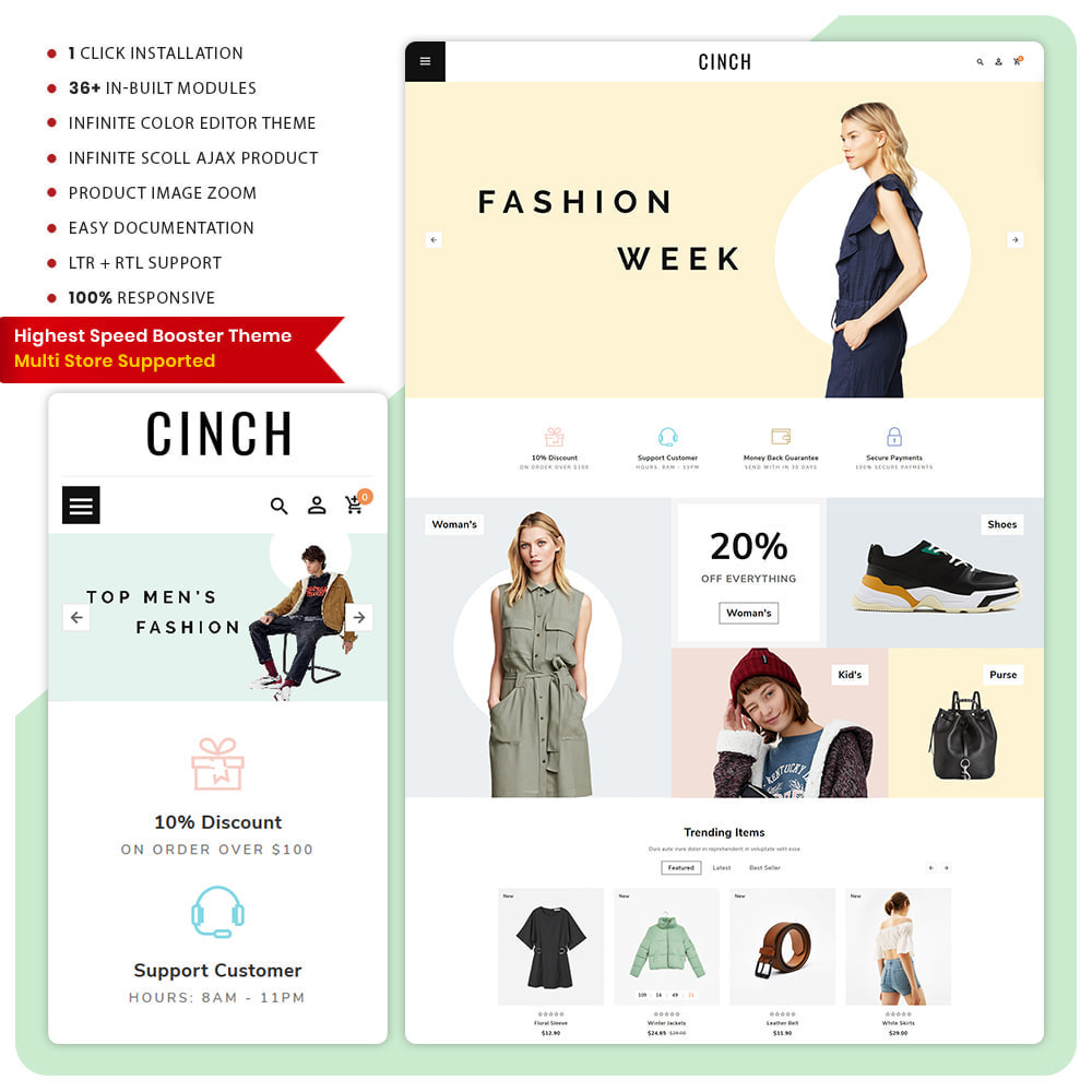 theme - Мода и обувь - Cinch Fashion Super Market - 1