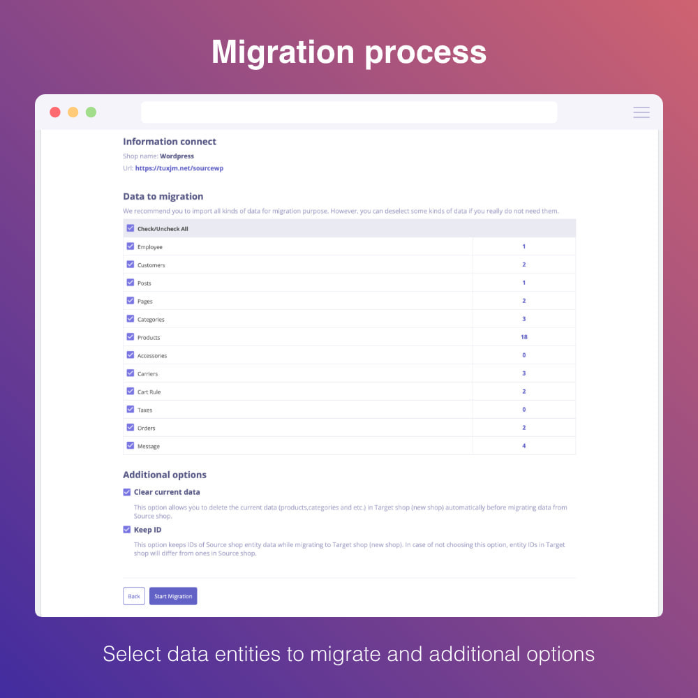 module - Migracja & Backup - Migrate WooCommerce to Prestashop - 4