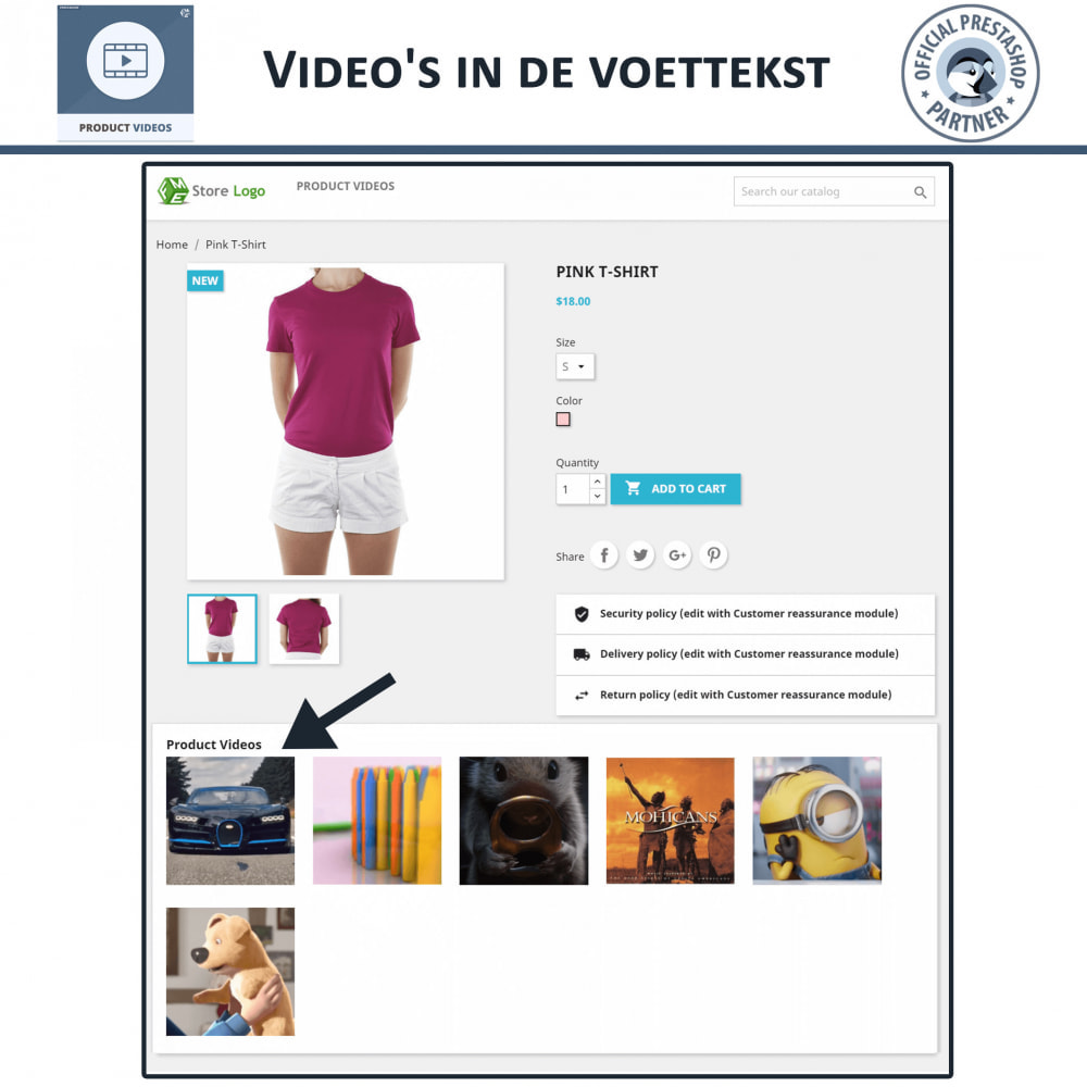 module - Video's & Muziek - Productvideo's - Upload of sluit YouTube, Vimeo in - 6