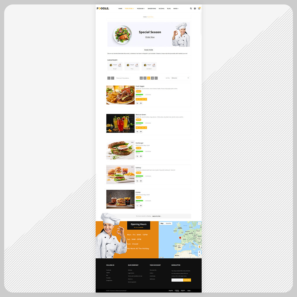 theme - Gastronomía y Restauración - Foodle Aliments Restaurant–Food Delivery Store - 3