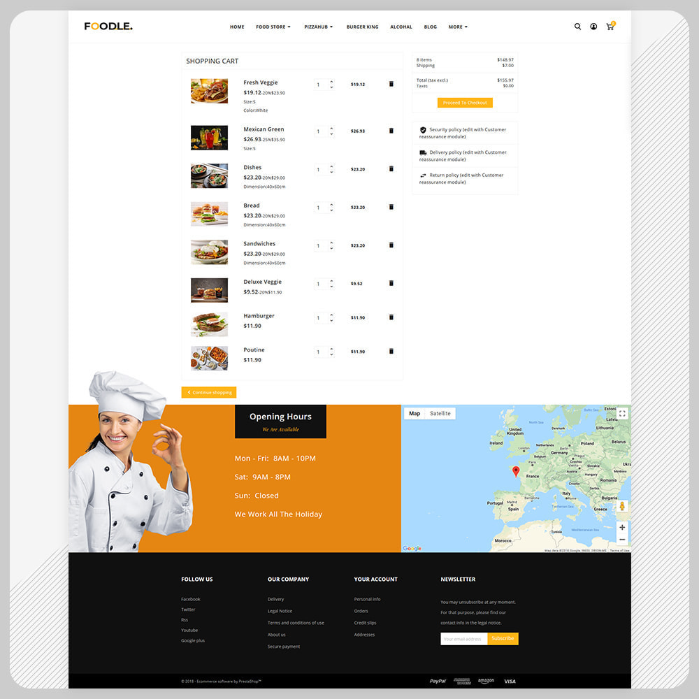 theme - Gastronomía y Restauración - Foodle Aliments Restaurant–Food Delivery Store - 5