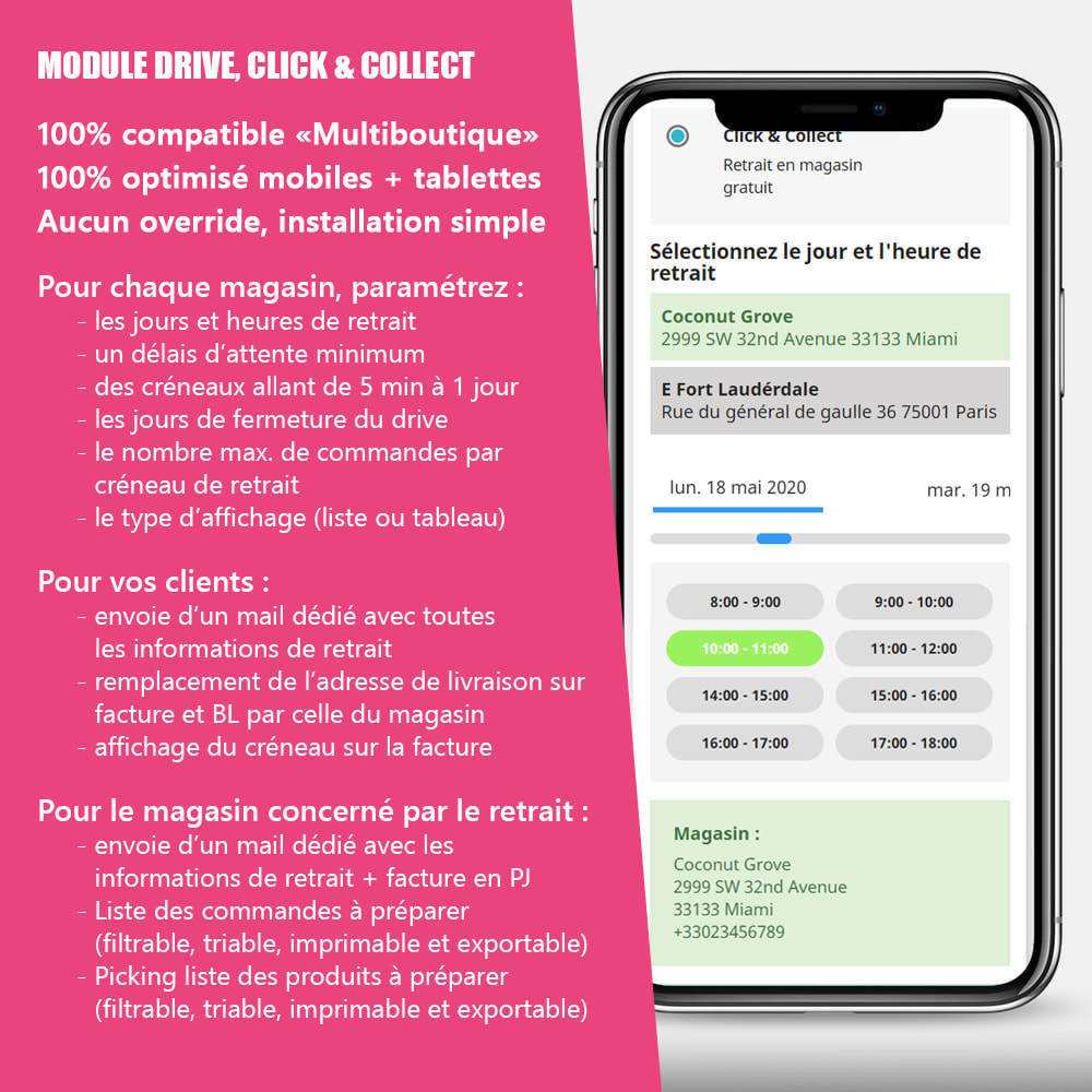 module - Point Relais & Retrait en Magasin - Drive et Click & Collect / Retrait magasin - 1
