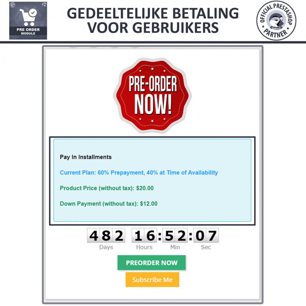module - Registratie en Proces van bestellingen - Vooruit Bestellen en Wachtlijst Notificatie - 5