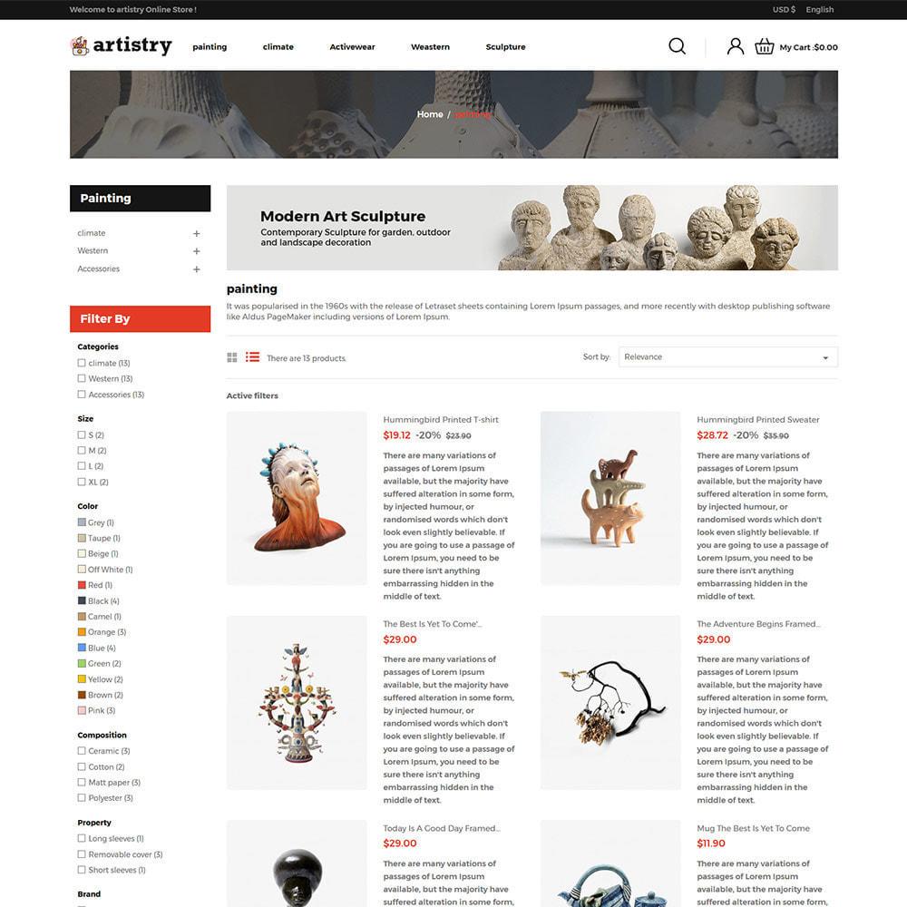 theme - Искусство и Культура - Artist  - Paint  Handcraft Art Store - 4