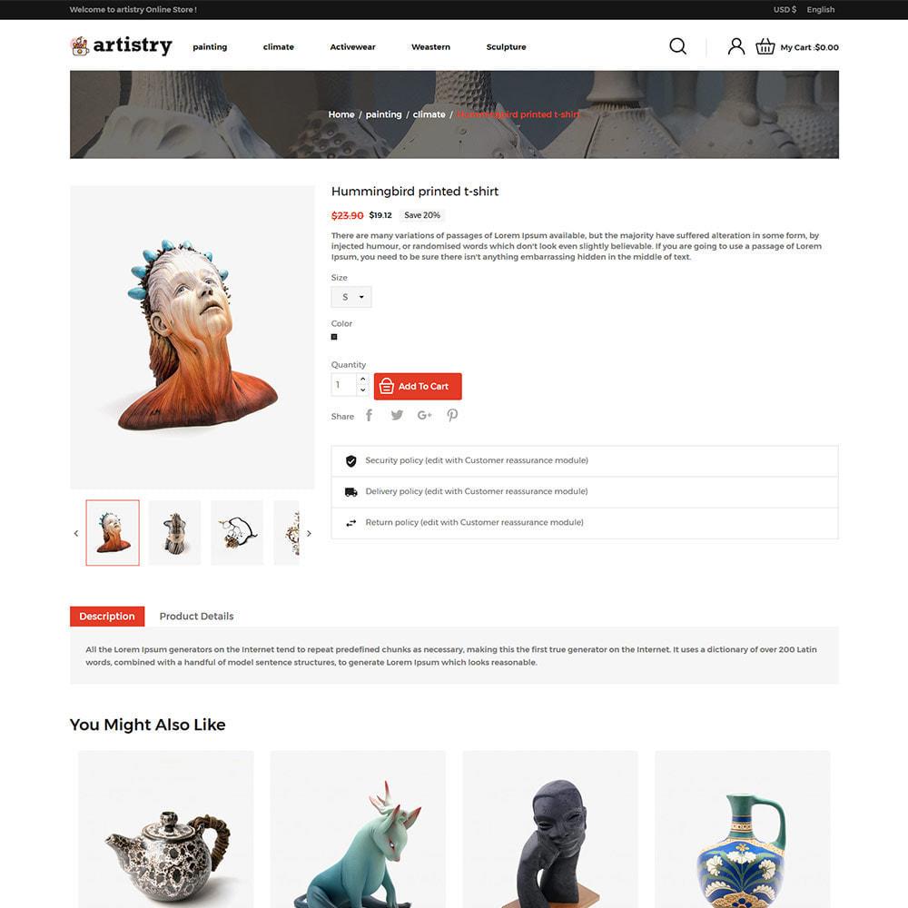 theme - Art & Culture - Artist  - Paint  Handcraft Art Store - 5