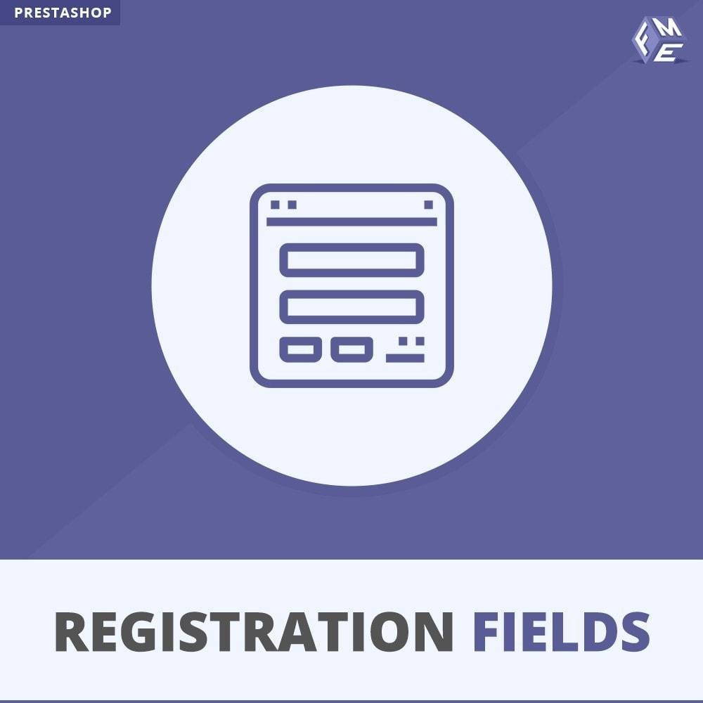 module - Iscrizione e Processo di ordinazione - Campi di Registrazione Personalizzati - Convalida - 1