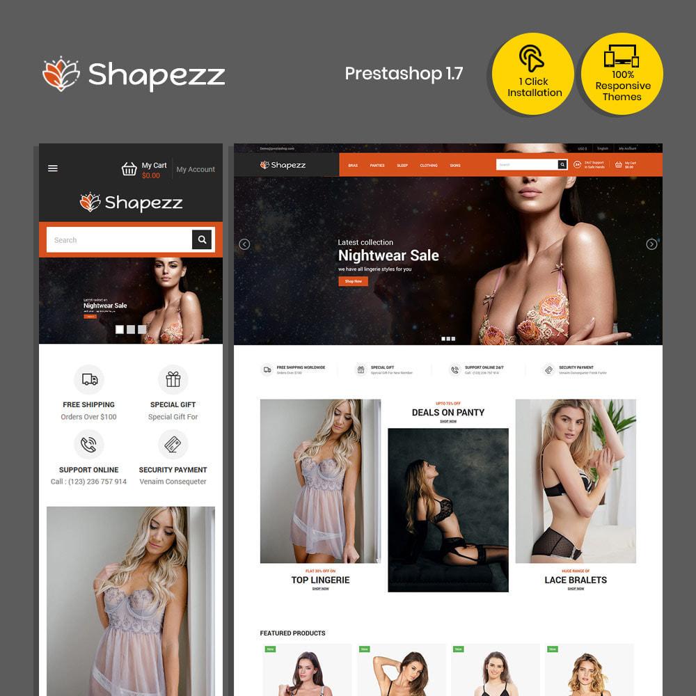 theme - Lingerie & Adulte - Shapezz Adulte - Lingerie Bra Panties Store - 2