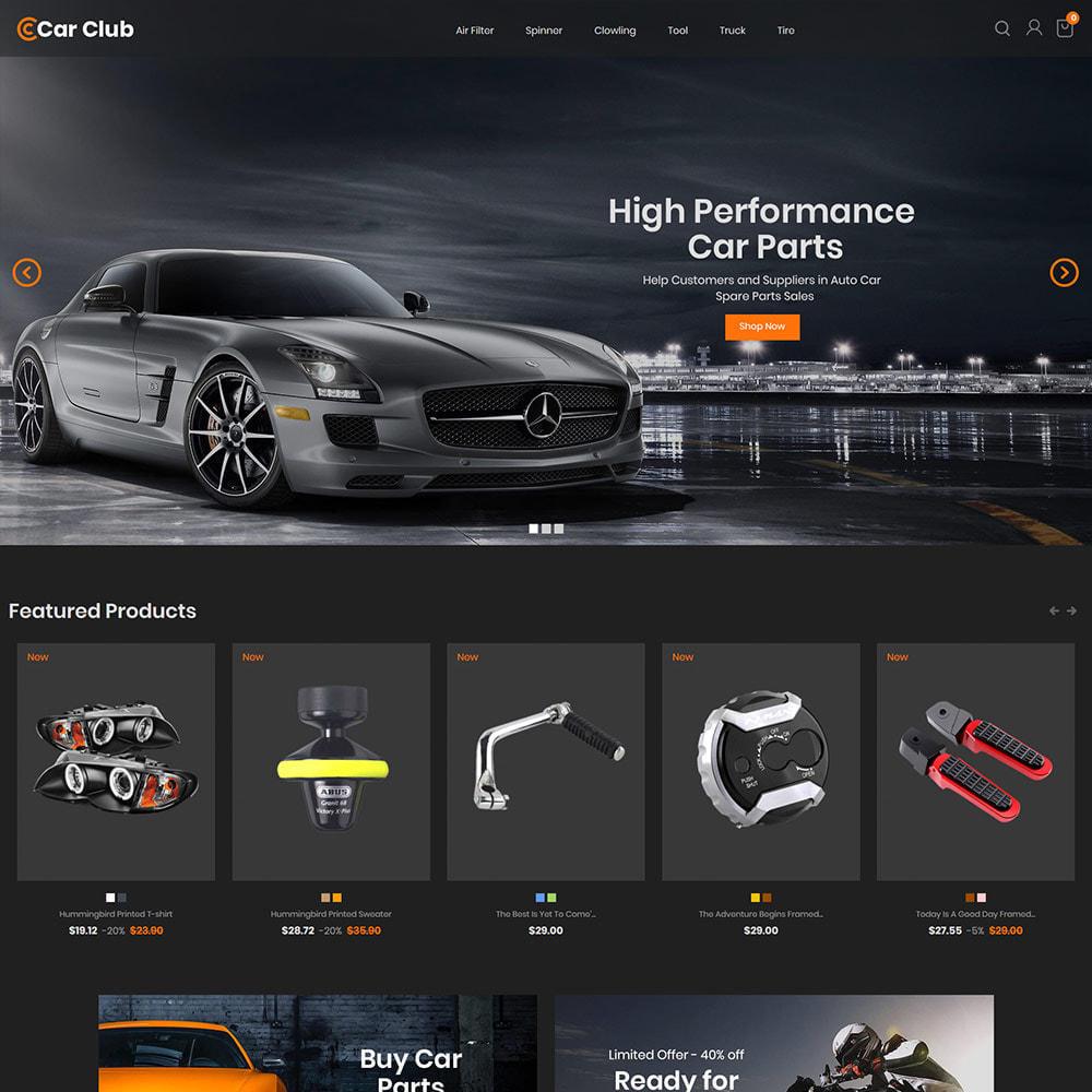 theme - Auto & Moto - Carclub - Magasin de pièces de rechange pour moteur - 3