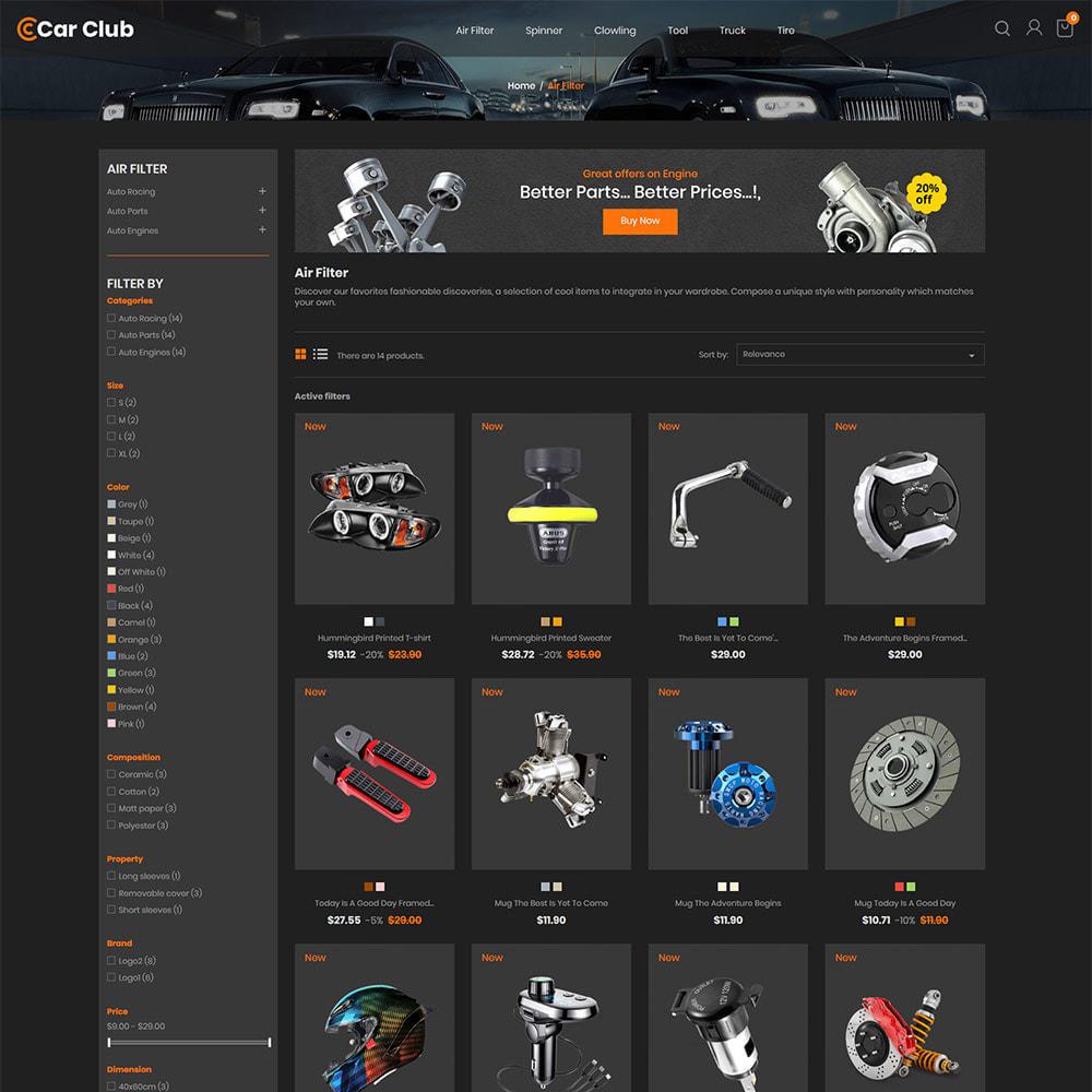 theme - Auto & Moto - Carclub - Negozio di ricambi per motori per utensili - 4