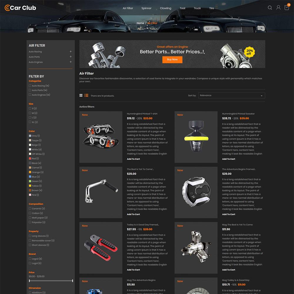 theme - Auto & Moto - Carclub - Negozio di ricambi per motori per utensili - 5