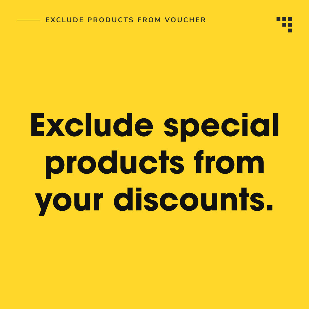 module - Promociones y Regalos - Exclude Products from Voucher - 2