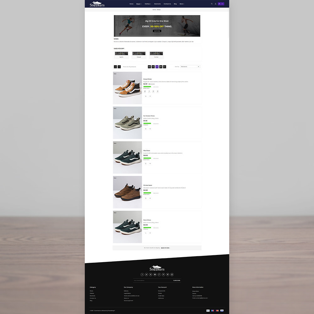 theme - Sport, Loisirs & Voyage - Sneakers The Sport Shoes Store - 3