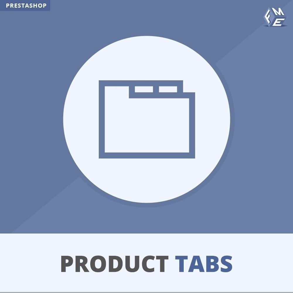 module - Altre informazioni & Product Tab - Tabs prodotto: Aggiungi altre Tabs Personalizzate - 1