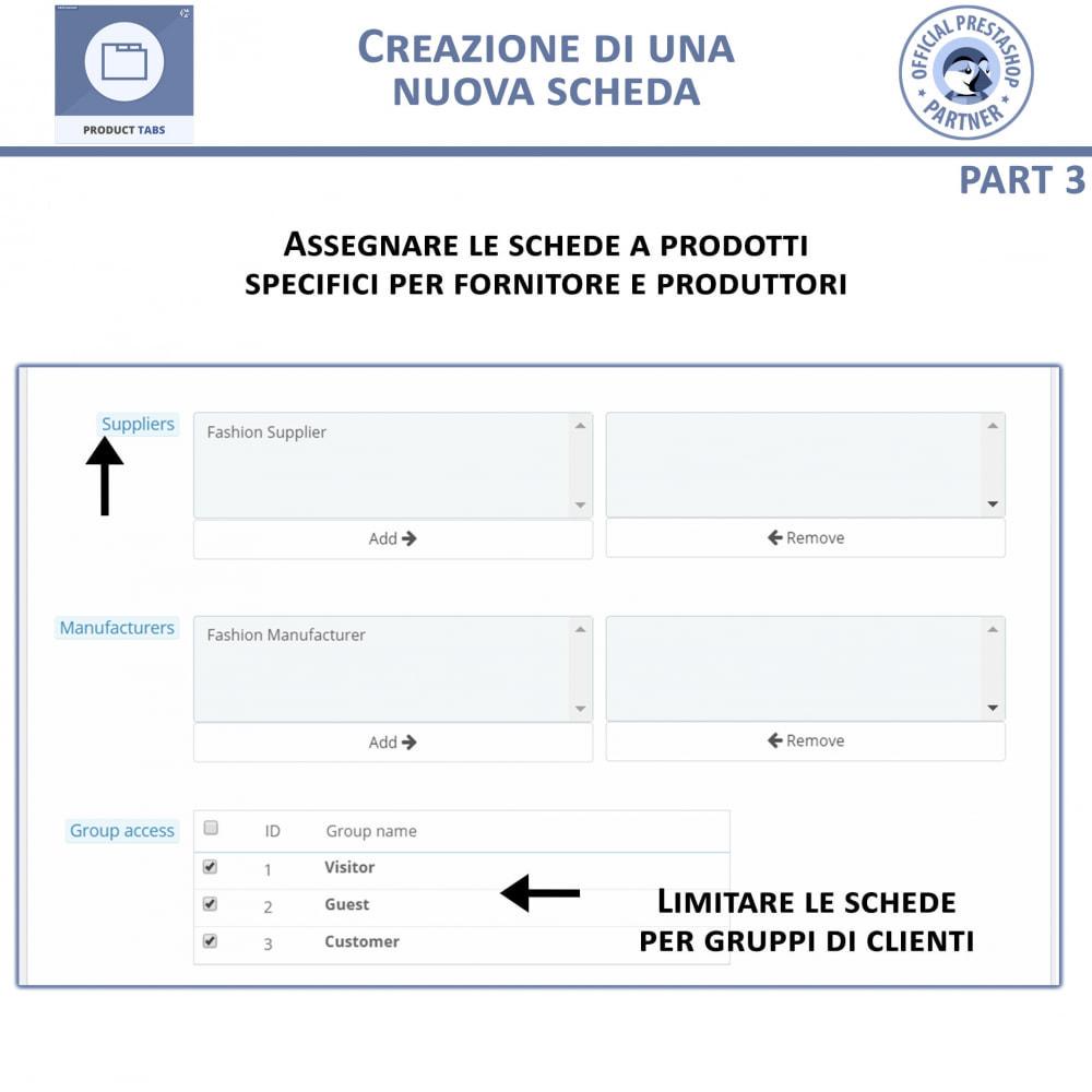 module - Altre informazioni & Product Tab - Tabs prodotto: Aggiungi altre Tabs Personalizzate - 8