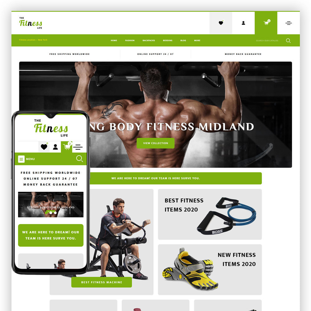 theme - Sport, Loisirs & Voyage - Fitnesslife - Gym Store - 1