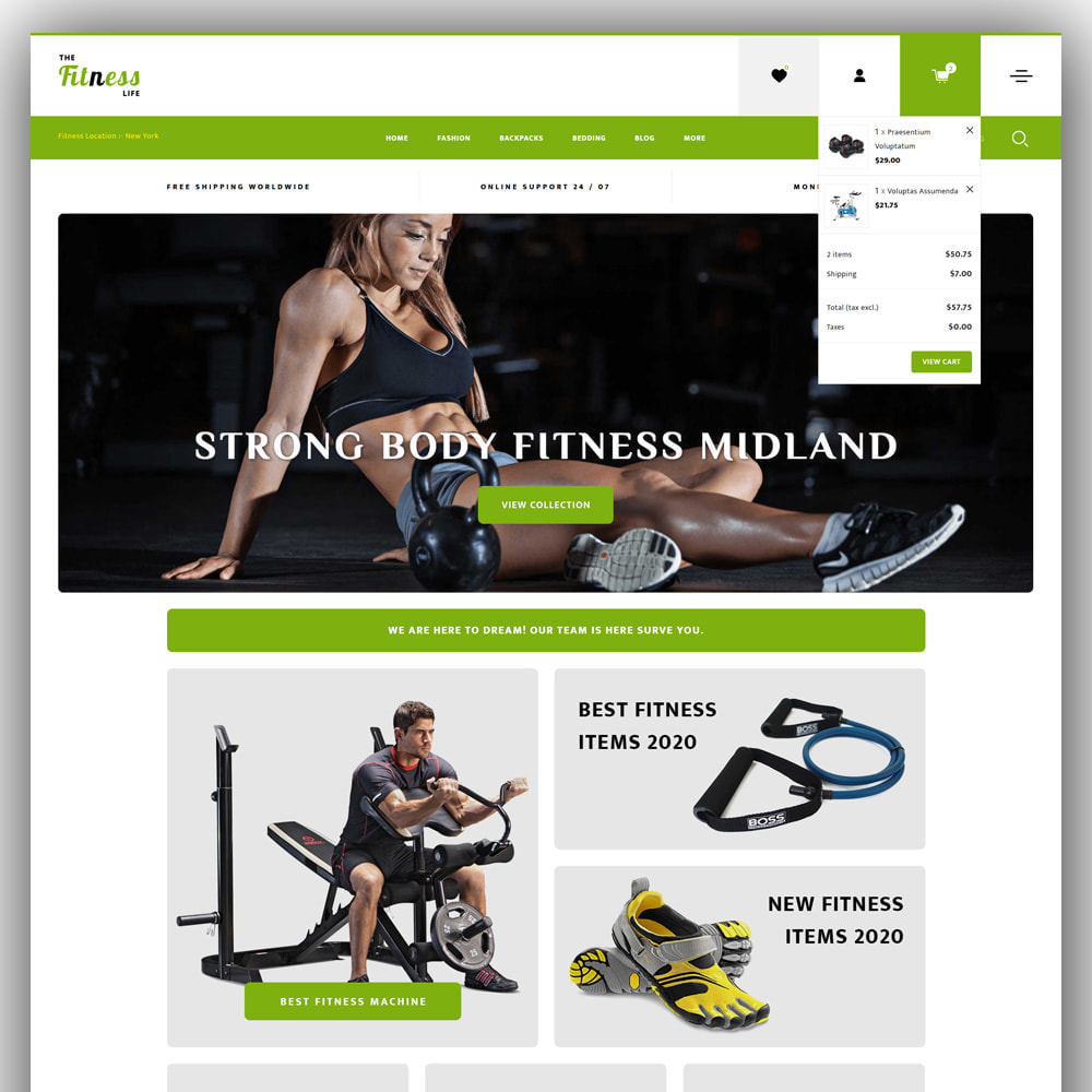 theme - Sport, Loisirs & Voyage - Fitnesslife - Gym Store - 3
