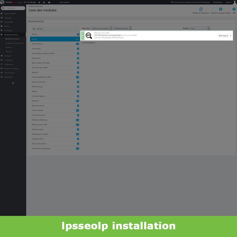 module - SEO (référencement naturel) - SEO Dynamic Landing Pages - 2