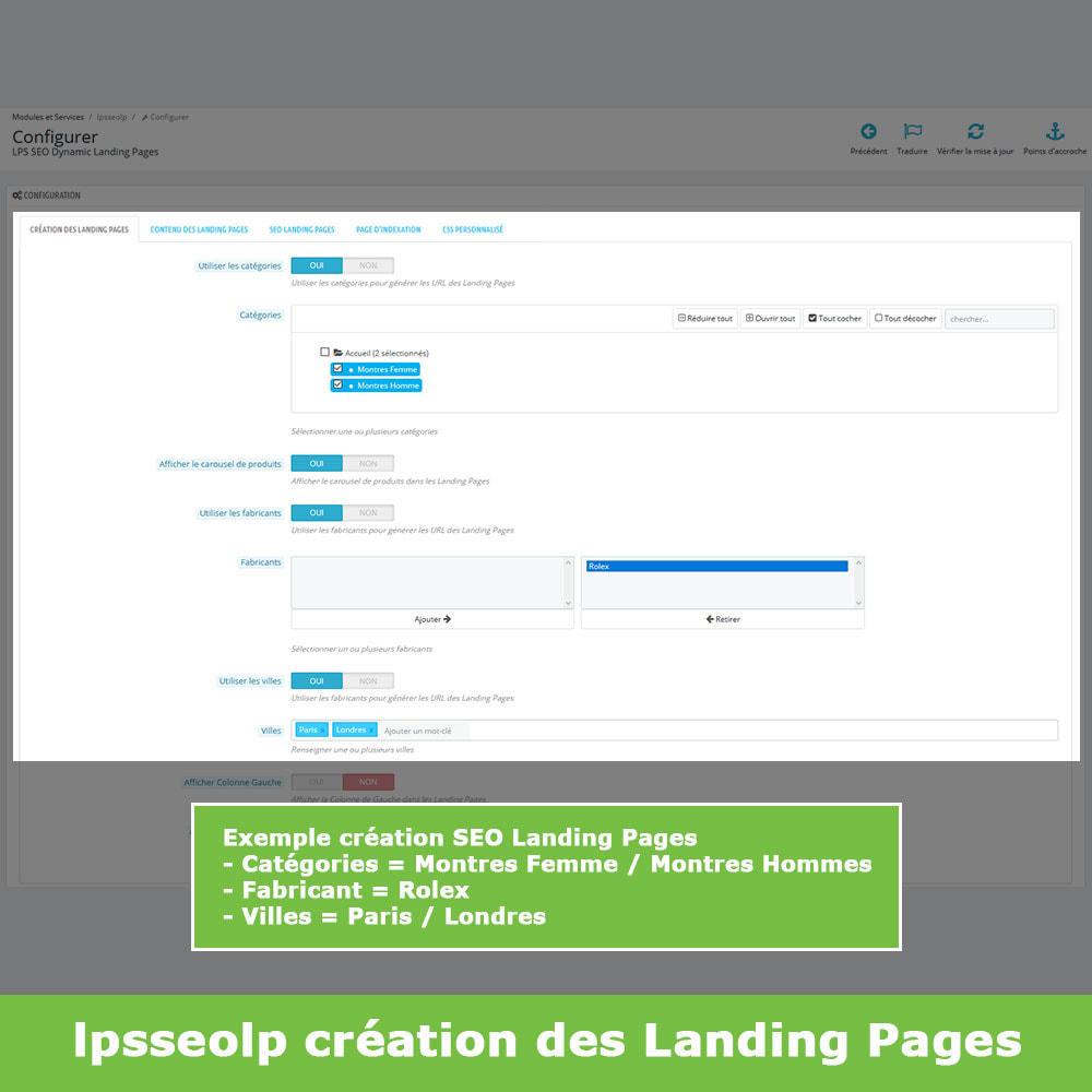 module - SEO (référencement naturel) - SEO Dynamic Landing Pages - 3