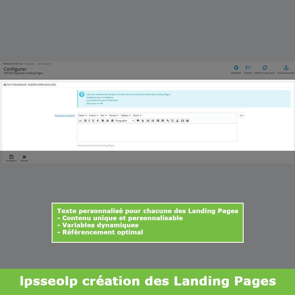module - SEO (référencement naturel) - SEO Dynamic Landing Pages - 6