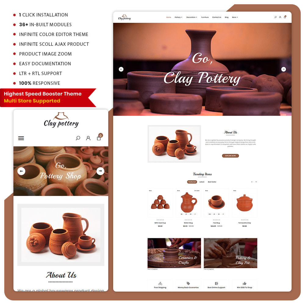 theme - Eten & Restaurant - Poterie Clay - Pottery Super Mall - 1
