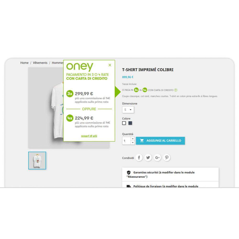 module - Altri Metodi di Pagamento - 3x 4x Oney – Pagamento 3 e 4 volte con carta di credito - 1