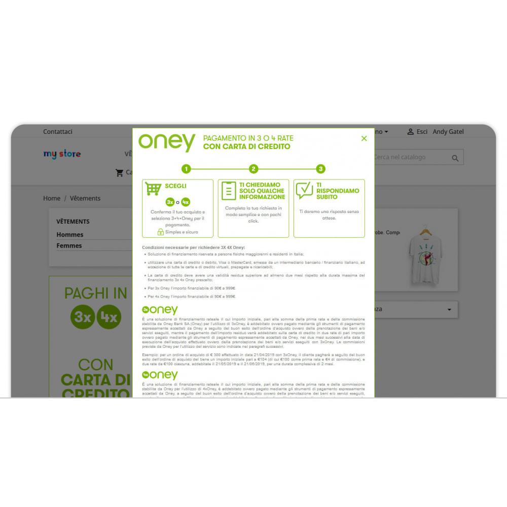 module - Altri Metodi di Pagamento - 3x 4x Oney – Pagamento 3 e 4 volte con carta di credito - 2