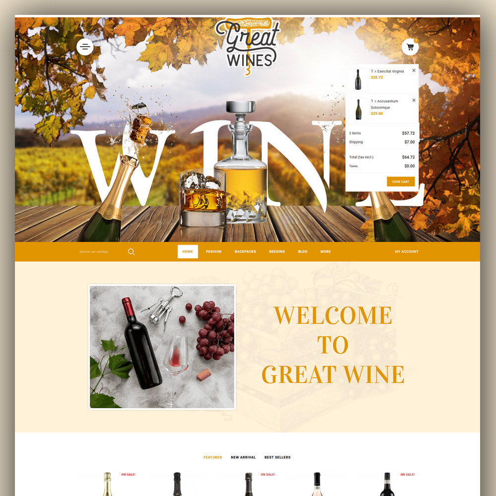 theme - Drink & Tobacco - Greatwine - Wine Store - 3