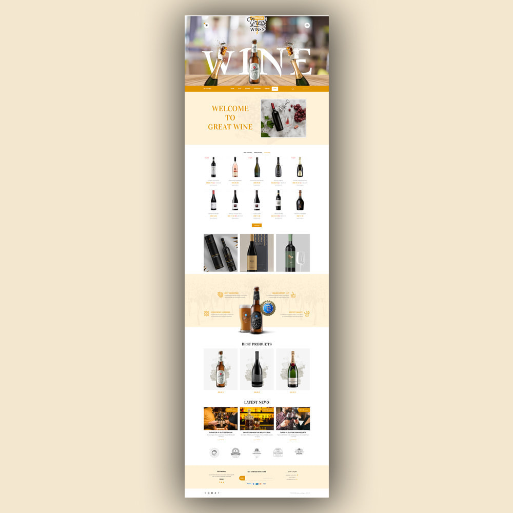 theme - Drink & Tobacco - Greatwine - Wine Store - 8