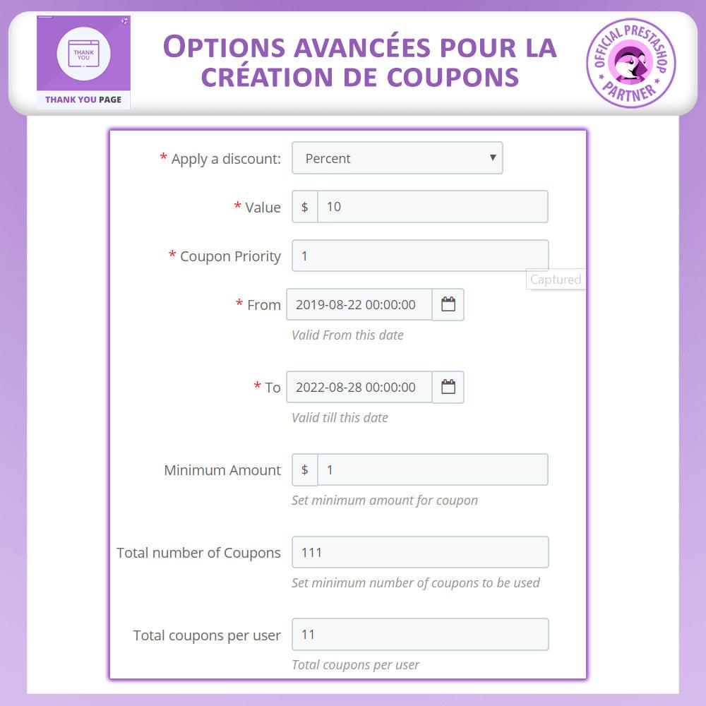 module - Promotions & Cadeaux - Page de Remerciement Avancée - 8