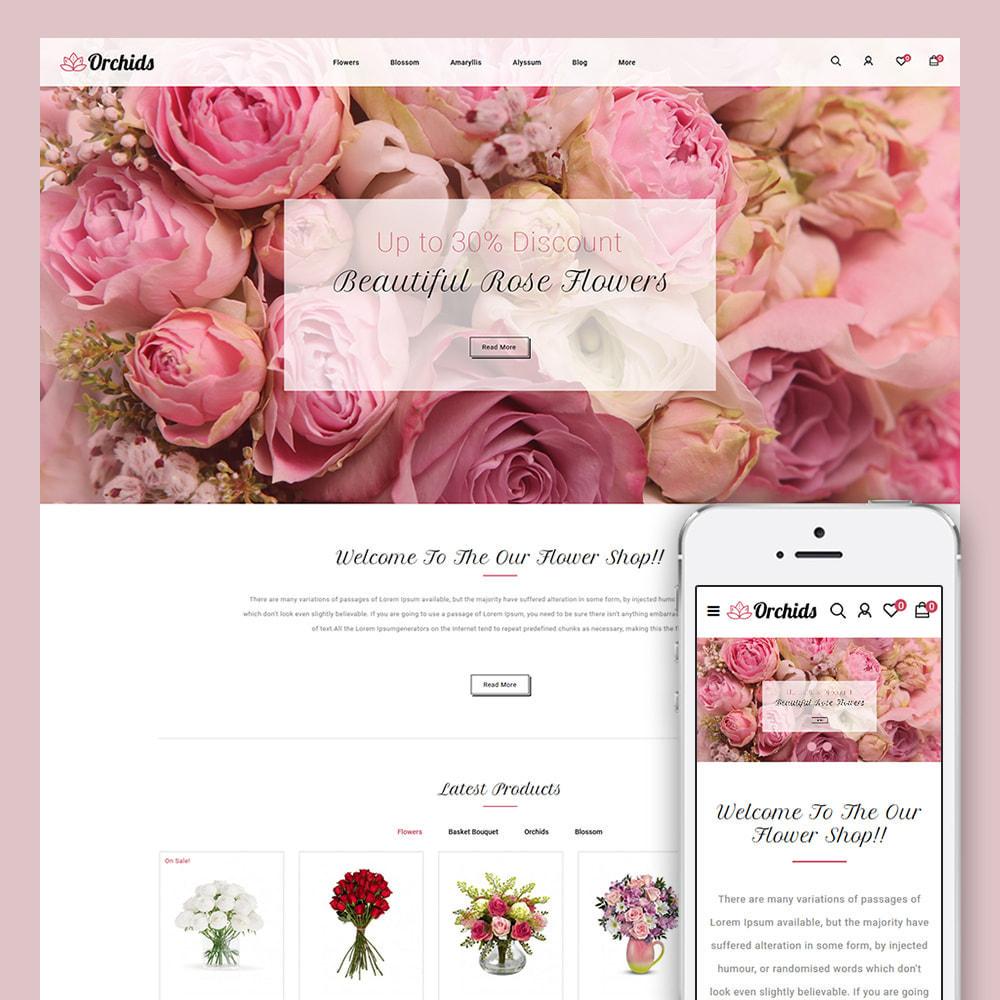 theme - Prezenty, Kwiaty & Uroczystości - Orchid - Flower Market - 1