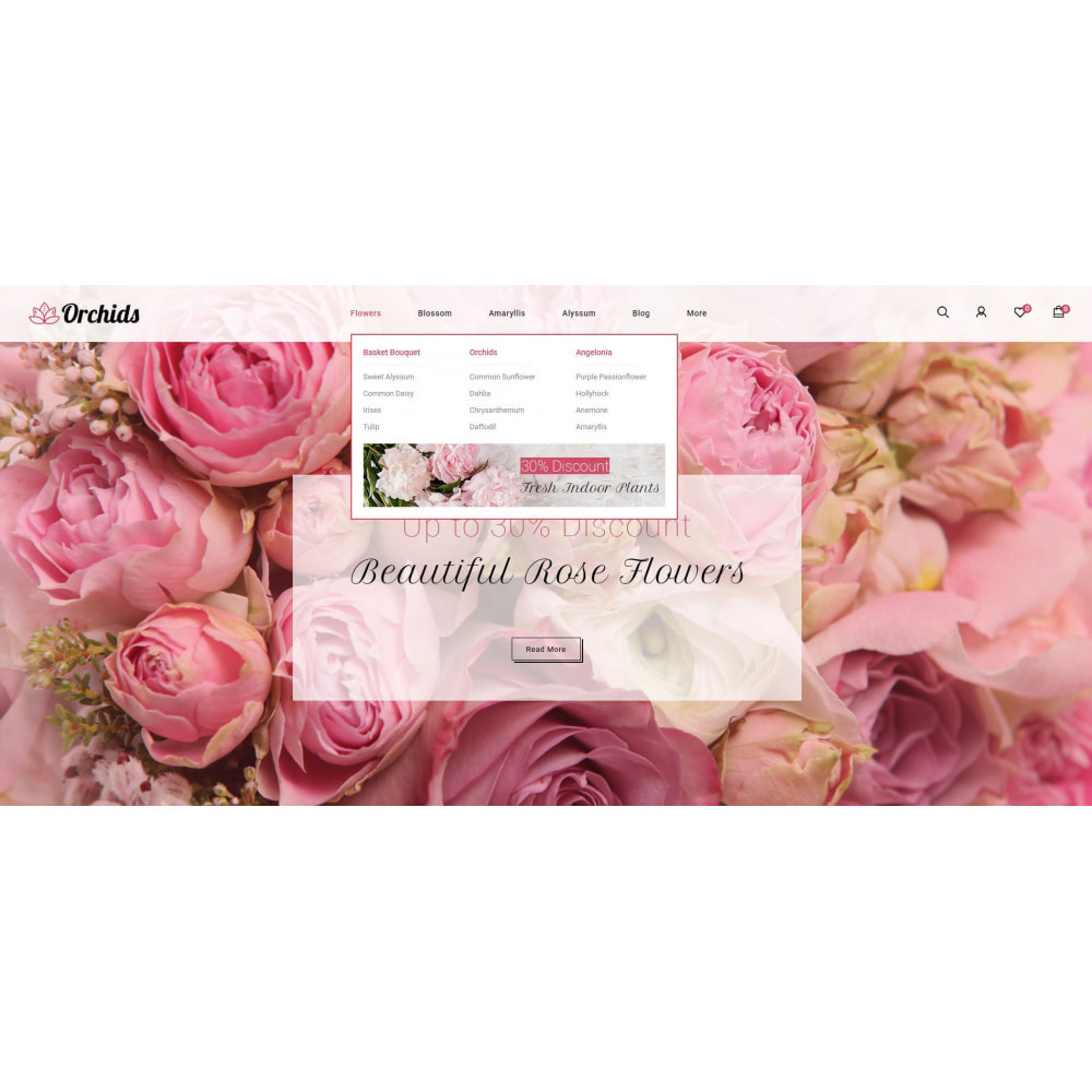 theme - Prezenty, Kwiaty & Uroczystości - Orchid - Flower Market - 6
